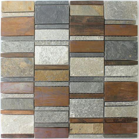 Kupfer Naturstein Mosaik Fliesen Mix Tm33409