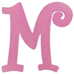 hot pink glitter letter  shop hobby lobby