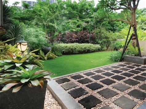 gambar taman halaman depan rumah terbaik