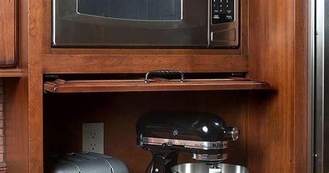 appliance garage  pull  door  built  microwave