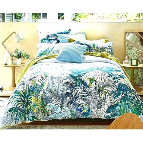 Tropical Quilt Cover Breathtaking Hibiscus Print Bedding