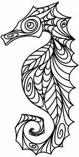 Quilling Seahorse Patterns Coloring Pages Pattern Adults Advanced Doodle Letscolorit sketch template