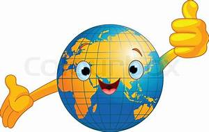 Globe Terrestre Carton : cartoon globus give thumbs up stock vektor colourbox ~ Teatrodelosmanantiales.com Idées de Décoration