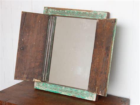 vintage bathroom mirror wooden mirrors scaramanga
