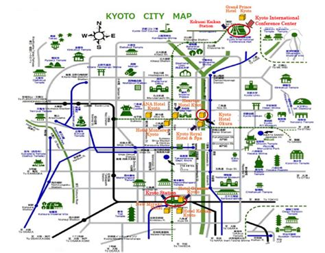 kyoto attractions map bing