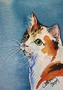 Art Painting Beautiful Cat
