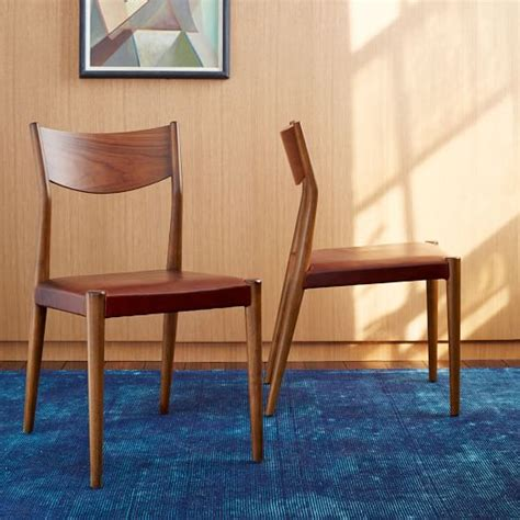tate leather dining chair west elm