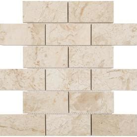 shop anatolia tile marfil polished marble subway mosaic