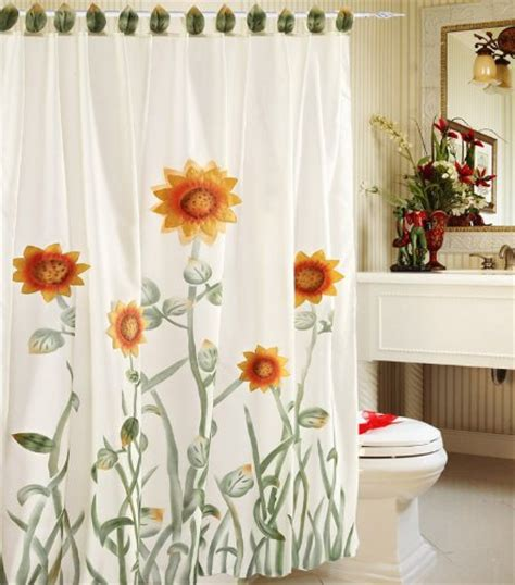 white kitchen curtains with sunflowers chezmoi collection whitegreenyellow 3d sunflower shower