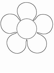 Simple Flower Coloring Pages - ClipArt Best