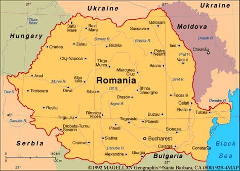 romania map infoplease