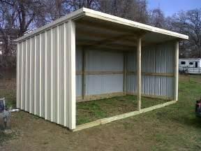 basic loafing shed blueprints size 12x24 loafing shed