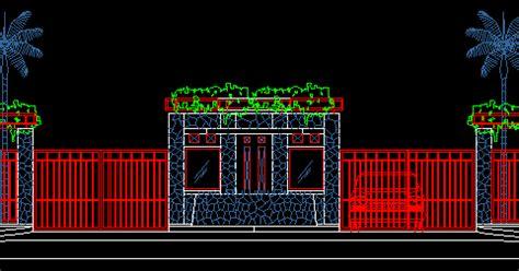 gambar kerja detail pagar  gerbang file dwg