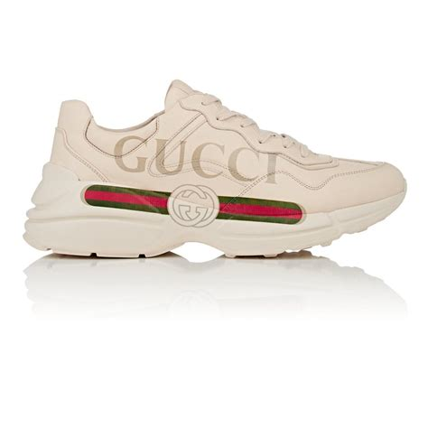 The more i wear this shoe the more i like them. Lyst - Gucci Rhyton Leather Sneakers in White