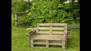 Fabriquer Un Banc De Jardin Original : banc de palette youtube dcortonnant fabriquer un banc de jardin en faire un banc de jardin ~ Melissatoandfro.com Idées de Décoration