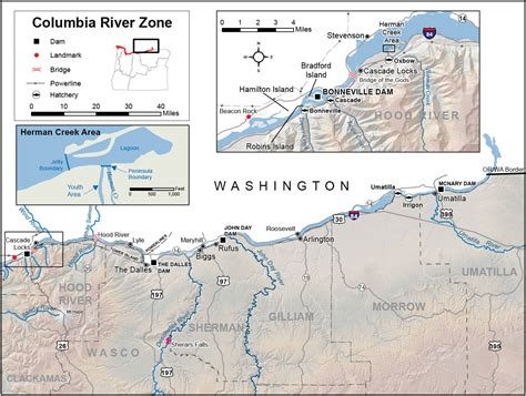 columbia river zone regulations map oregon fishing
