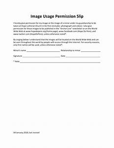 photography permission form template - image usage permission slip full sheet