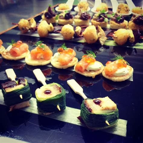 delicious and stunning canap 233 s at farnham castle wedding canapes weddingfood finger foods