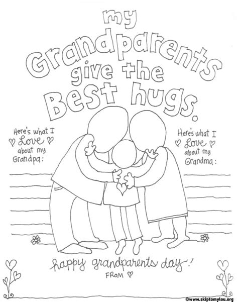cutest grandparents day coloring pages skip   lou