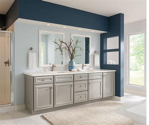 gray bathroom cabinets schrock cabinetry