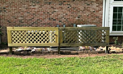 build  removable trellis screen  hide  air