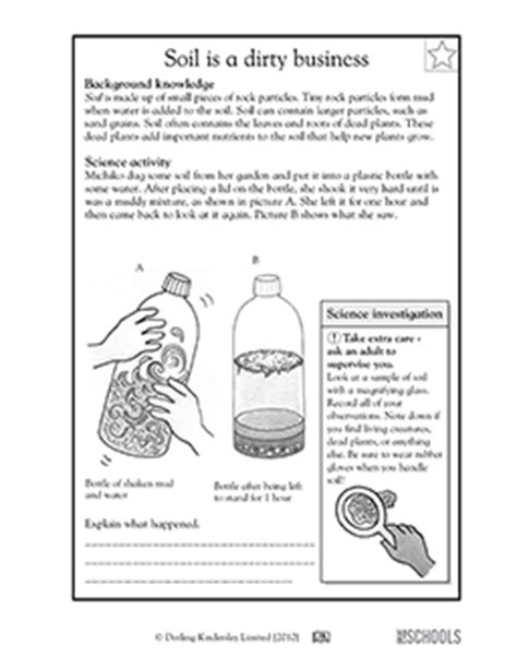 3rd grade 4th grade science worksheets soil is a