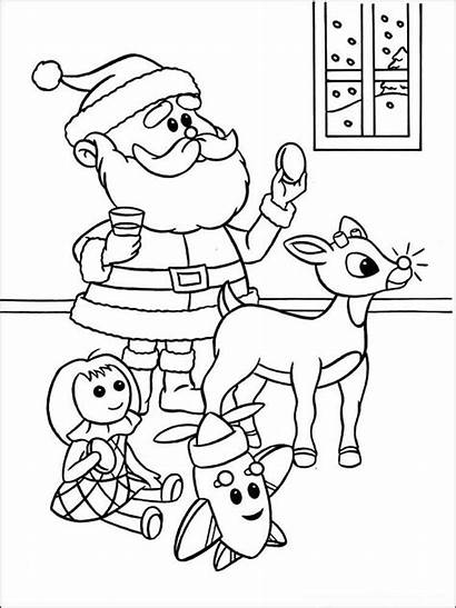 Rudolph Coloring Herbie Printable Holiday Template Templates