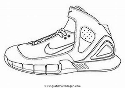Nike Colorare Coloring Turnschuhe Malvorlagen Disegno Malvorlage
