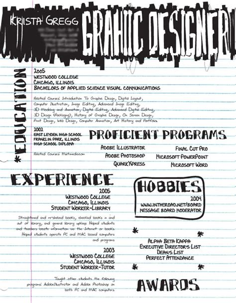 Pad Out Resumes by Graphic Design Resumes Plain Or Different Part I