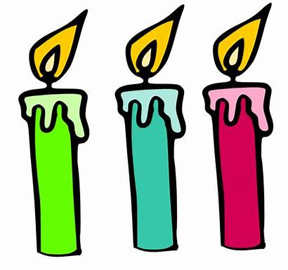 Candles Birthday Candle Clip Clipart Cartoon Single