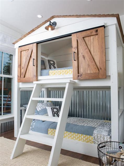 house bunk bed inspired by bunk beds for a guest room the inspired room