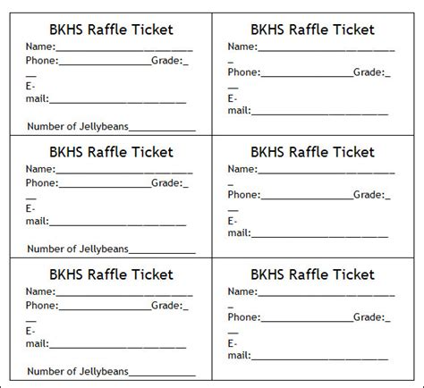 blank raffle ticket template 36 editable blank ticket template exles for event thogati