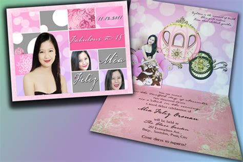 debut invitation templates psd ai vector eps