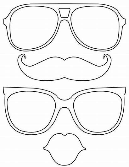 Props Templates Booth Mustache Photobooth Crafts Glasses
