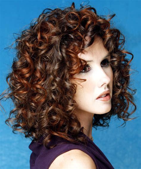 medium curly dark brunette hairstyle
