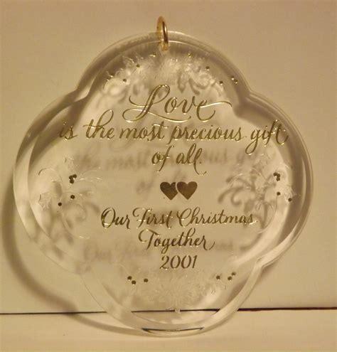 hallmark keepsake ornament our first christmas together
