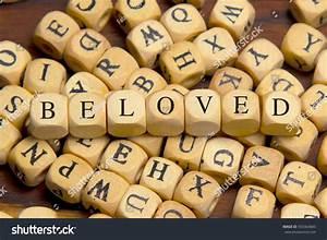 Beloved Word Written On Wood Block Stock Photo 550364845 ...