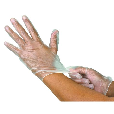 sarung tangan vinyl pack of 100 industrial vinyl gloves large
