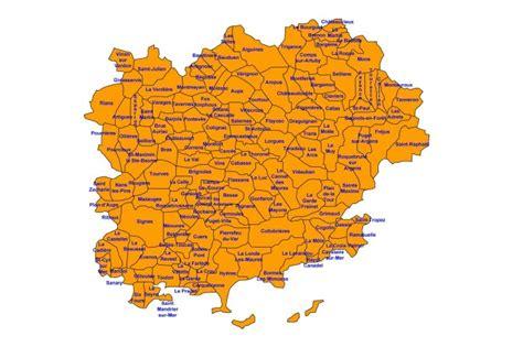 Carte Du Var Avec Toutes Les Villes by Liste Des Communes Du Var 83 Provence 7