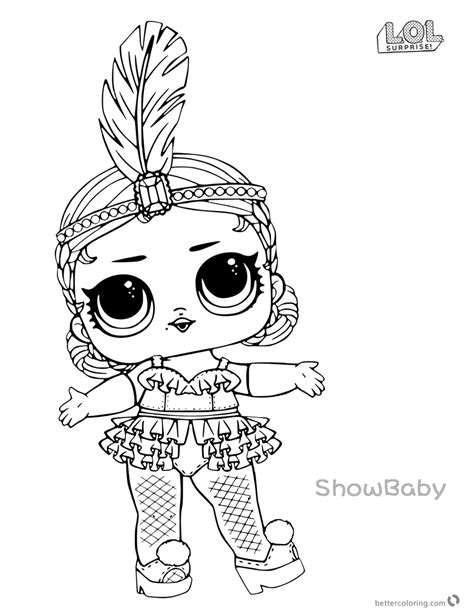 lol surprise doll coloring pages showbaby  printable