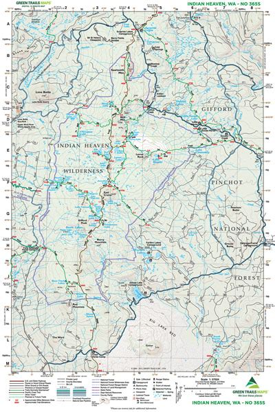 indian heaven wa   green trails maps books