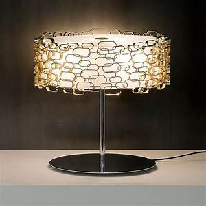 Luxury table lamps modern gold plated geometric table for Cars 2 table lamp