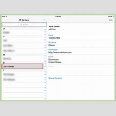 How To Add Contacts To An Ipad 10 Steps (with Pictures) Wikihow
