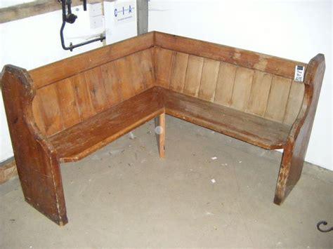 rustic simple wooden corner bench seating  corner bench