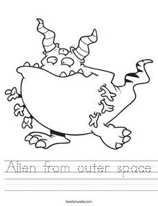Best Preschool Halloween Books by Alien From Outer Space Worksheet Twisty Noodle