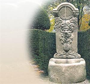 terrassenbrunnen garten historische stein With französischer balkon mit brunnen im garten kosten
