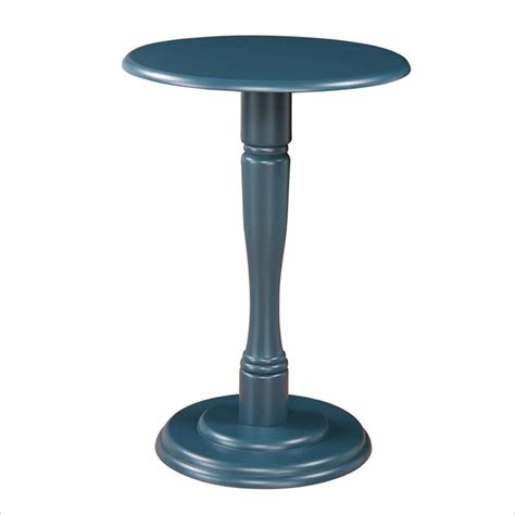 pedestal accent table linon pedestal teal accent table ebay