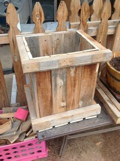 planter box   fence palings rethink reuse