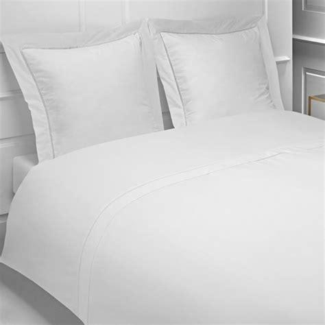 percale 160 fils linge de lit la compagnie du blanc