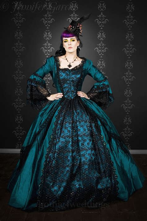 Gothic Steampunk Marie Antoinette Wedding Dress Handmade